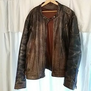 Other - Distressed Leather Jacket XXL